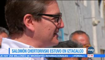 Salomón Chertorivski estuvo en la delegación Iztacalco