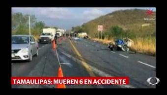 Mueren 6 por accidente carretero en Cd. Victoria