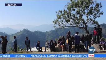 Recolectan víveres para desplazados en Chiapas