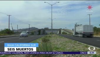 Descubren seis cuerpos colgados en puentes de Los Cabos y La Paz