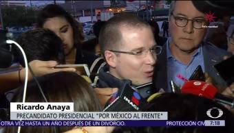 Anaya afirma que no perdonará a corruptos, pondrá fin a la impunidad