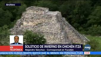 Solsticio de invierno reúne a turistas en Chichén Itzá