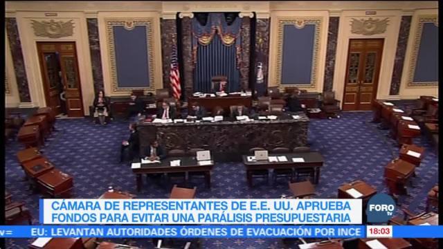 Cámara baja aprueba fondos para evitar parálisis presupuestaria en EU