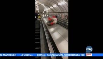 Joven ebrio paga cara su 'travesura' en Metro de Londres