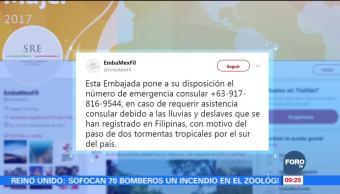 México lamenta muertes en Filipinas por una tormenta tropical