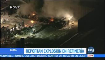 Explosión en refinería de Colorado deja un lesionado
