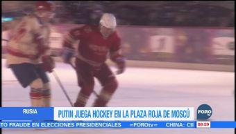 Presidente ruso juega partido de hockey sobre hielo
