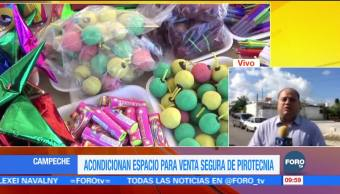 Implementan operativo contra venta ilegal de pirotecnia