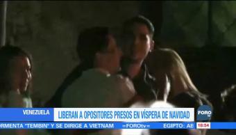 Venezuela libera a opositores presos en vísperas de Navidad