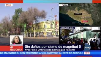 Sismológico Nacional confirma magnitud 5 tras sismo en Guerrero