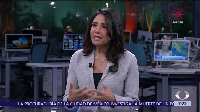 Alejandra Barrales en la mesa de Despierta con Loret