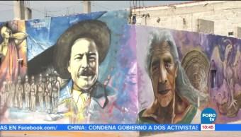 Pintan más de 160 murales en Mixquiahuala, Hidalgo
