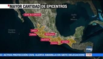 Más de 12 mil sismos en 3 meses en México