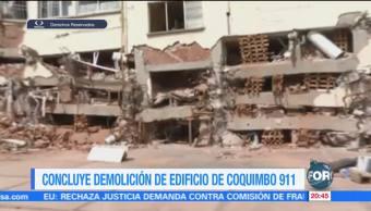 Concluye demolición del edificio Coquimbo 911