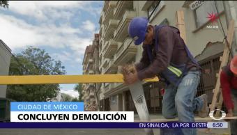 Concluye demolición del edificio colapsado en Coquimbo 911 tras sismo CDMX
