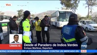 Realizan operativo de tránsito en Paradero de Indios Verdes