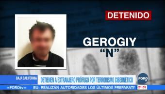 Detienen en Baja California a extranjero prófugo por terrorismo cibernético
