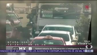 Detienen a dos hombres tras consumar asalto a microbús en la CDMX