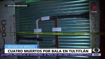 Enfrenamiento deja cuatro muertos en Tultitlán, Edomex