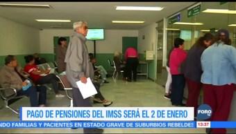 IMSS pagará pensiones el 2 de enero de 2018