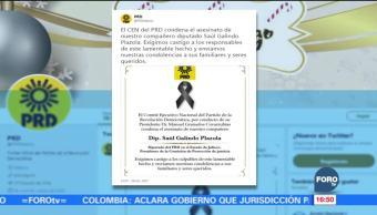 PRD condena homicidio de diputado local de Jalisco