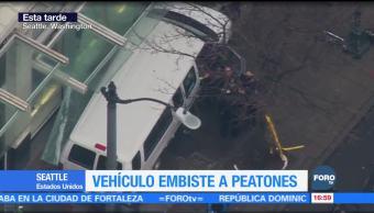Camioneta embiste a personas en Seattle
