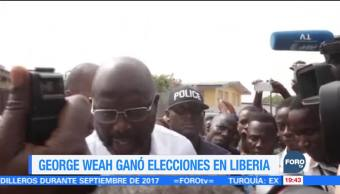Exfutbolista George Weah gana la presidencia de Liberia