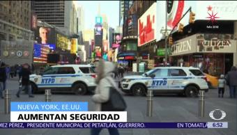 Refuerzan seguridad en Nueva York para fiesta de Año Nuevo