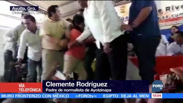 No permitiremos que Ángel Aguirre llegue al poder: padre de normalista