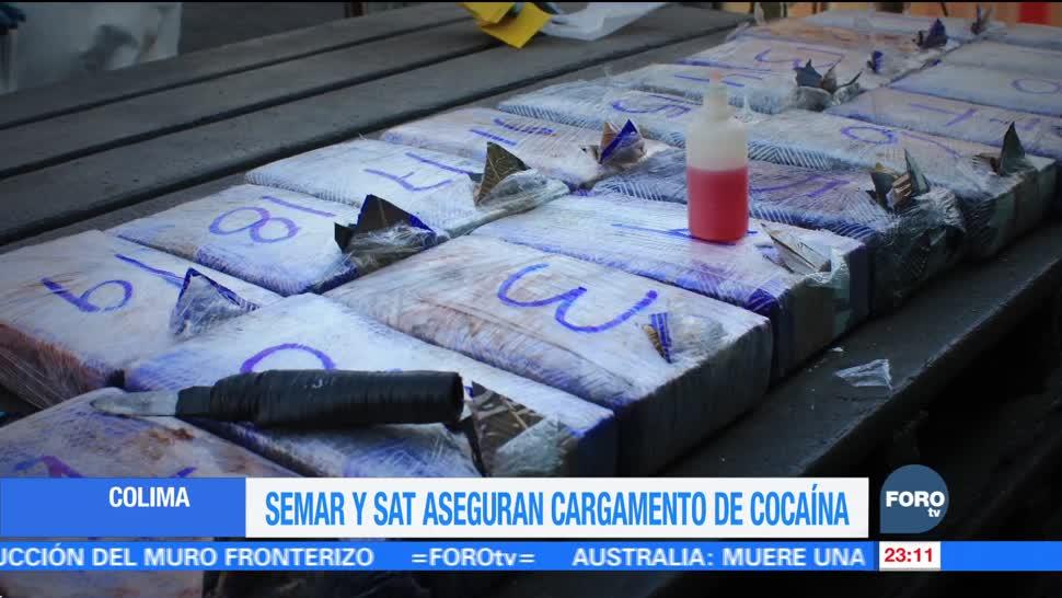 Semarnat y SAT aseguran cargamento de cocaína