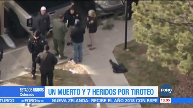 Tiroteo deja un muerto y siete heridos en Denver, Colorado