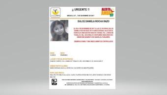 Alerta Ámber por extraviada en la delegación Xochimilco