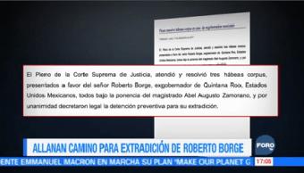 Allanan Camino Extradición Borge México Panamá Quintana Roo Roberto