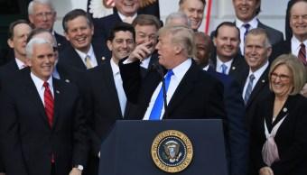 Donald Trump y republicanos festejan reforma fiscal
