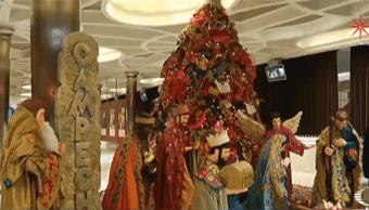 Artesania de Campeche adorna la Navidad en el Vaticano