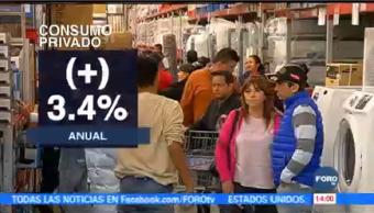 Aumenta Consumo Privado Mercado Interno INEGI