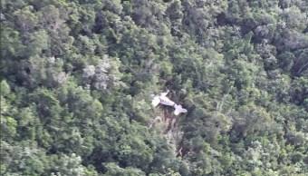 Sobreviven tripulantes de avioneta que desplomó en Q. Roo