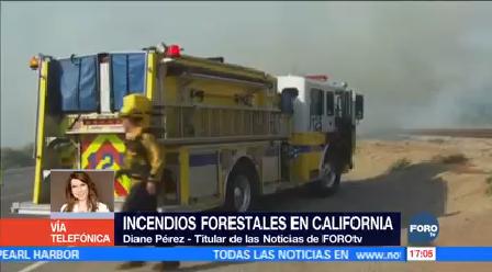 Cuatro Incendios Forestales Siguen Sin Control California