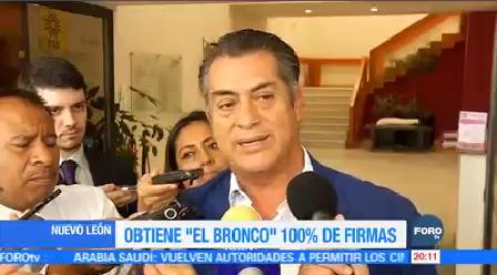El Bronco Primer Independiente Lograr 100 Firmas Apoyo