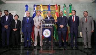 El presidente de República Dominicana durante un mensaje el 1 de diciembre