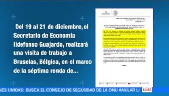 Bruselas Ildefonso Guajardo Busca Acuerdos Actualizar Tlc