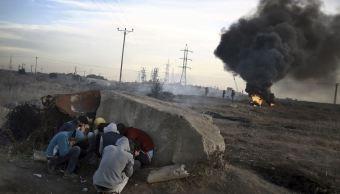 israel ataca hamas gaza fuego cohetes