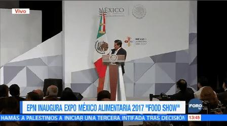 Enrique Peña Nieto inaugura Expo Agroalimentaria Food Show 2017