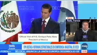 Epn Destaca Reformas Estructurales Presidente Enrique Peña Nieto