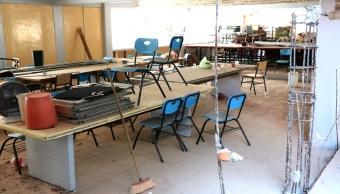 Escuela dañada en la Ciudad de México tras sismo del 19S