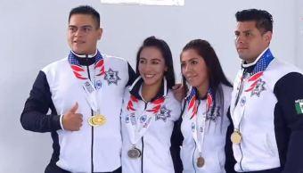 Mexicanos ganan medallas de oro en los Juegos Mundiales de Policías y Bomberos.