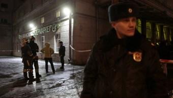 Explosión de bomba casera deja 10 heridos en supermercado de San Petersburgo