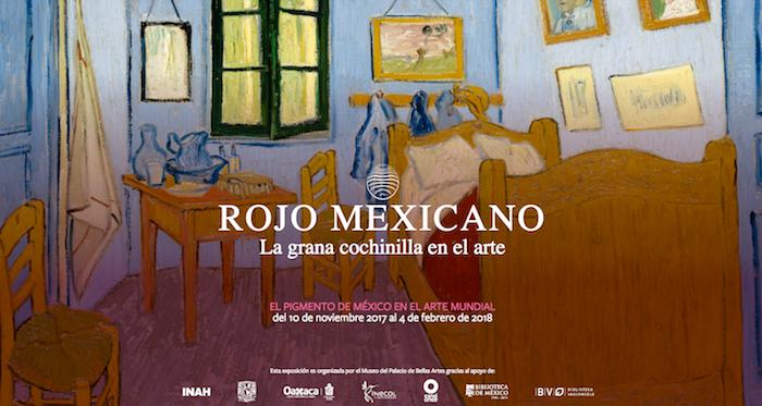 Exposición Rojo Mexicano, en Bellas Artes.