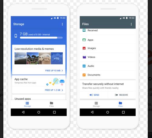 Files Go de Google. (Google Inc)