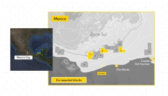 Grupo energético italiano eleva estimación de hidrocarburos en México